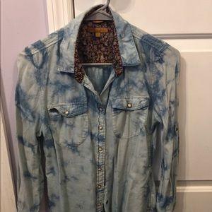 Tops - Jach's girlfriend tie dye western style shirt